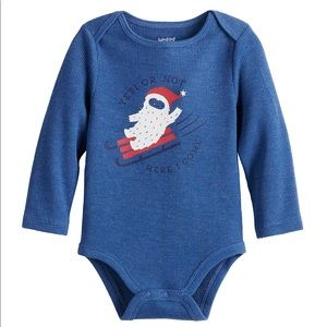 NWT Jumping Beans Baby Boy Thermal Bodysuit Onesie